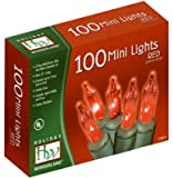 Noma #4003-88 HW 100CT RED Light Set (Pack of 48)
