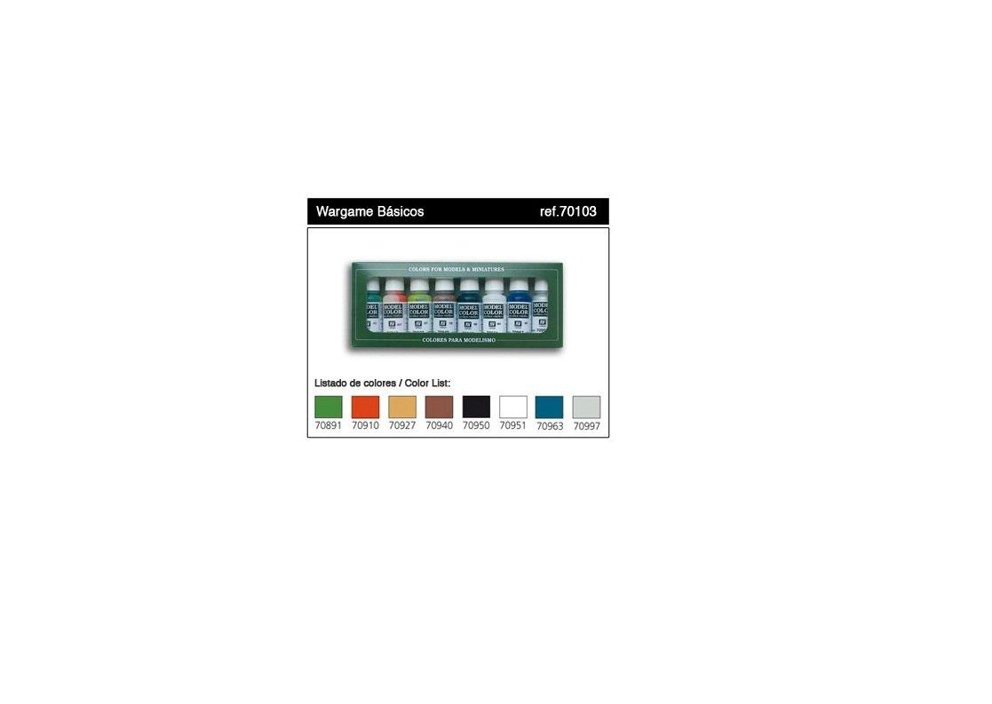Vallejo Wargames Basics - Set de pintura acrílica (8 unidades, 17 ml) multicolor VAL-70103
