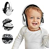 Baby Hearing Protection Ear Muffs, Certified, 0-2 years (White)