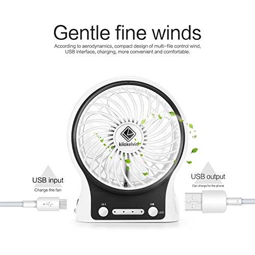 kilokelvin portable quiet fans mini usb cooling fan rechargeable battery desktop fan desk fan