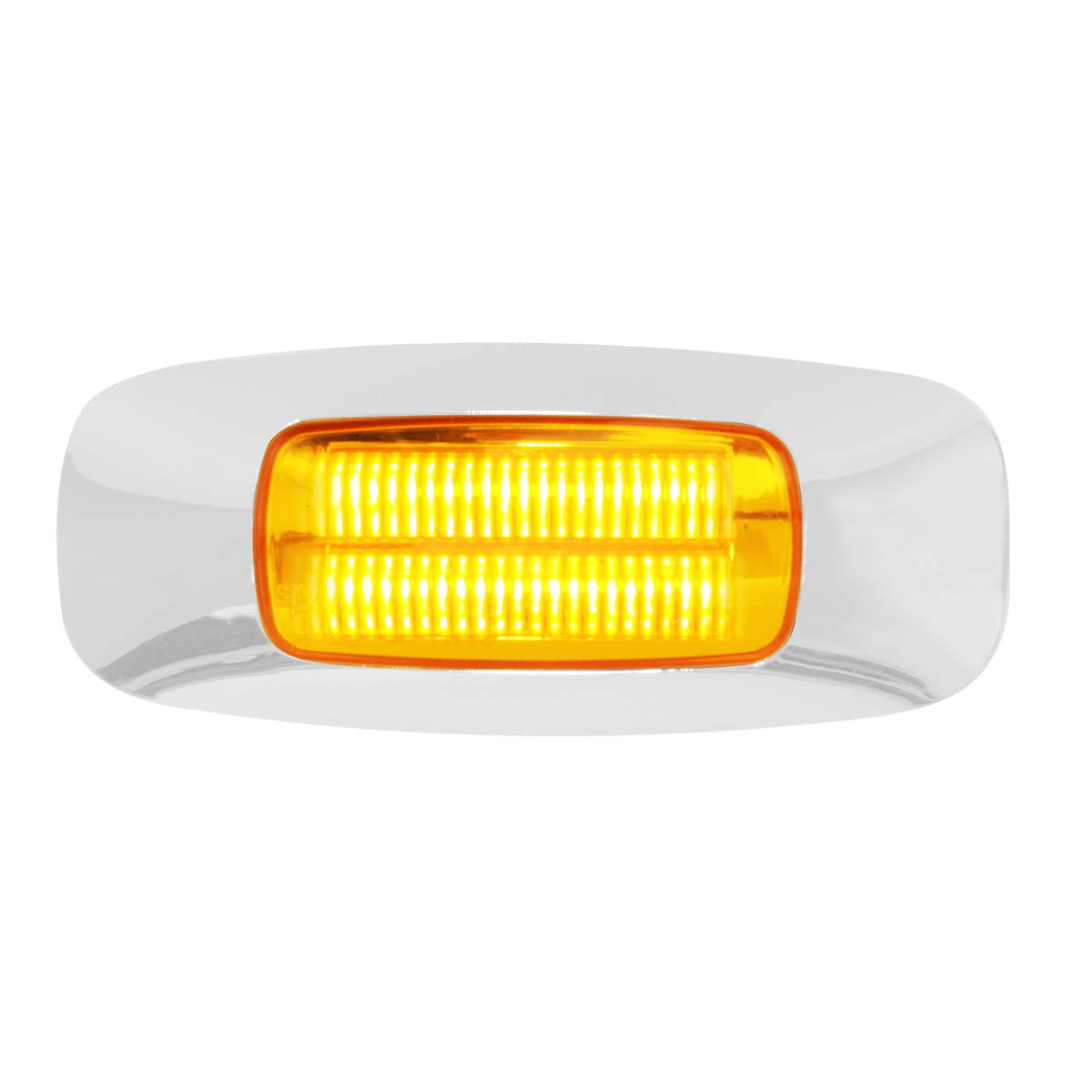 GG Grand General 74821 3-1//2 3-1//2 Inch Rect Prime Amber//Clear 4 Led Marker Sealed Light
