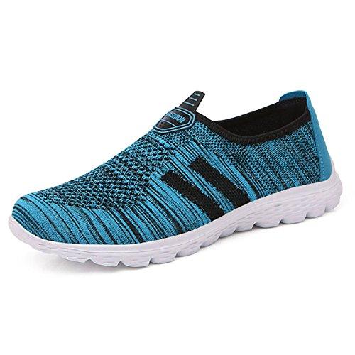 Gesimei Palestra Scarpe Traspirante Donna Uomo A Corsa All'aperto Sneaker Leggera Maglia Da Camminata Sportive Blu rrWxOBqnca