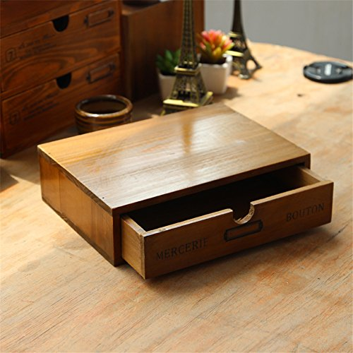 Vintage Wooden Storage Shelf Drawer Box Sundries Shelf Treasure Chests Desktop Decor Wooden Cabinet Rack Storage Organizer Craft Kangsanli