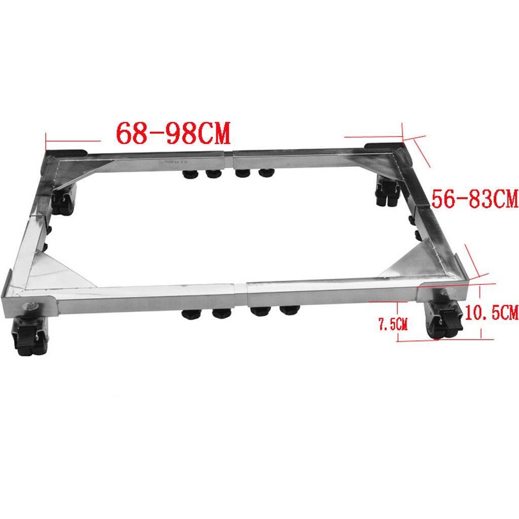 Stainless Steel Heightening Waterproof Bracket Refrigerator Base -Casters