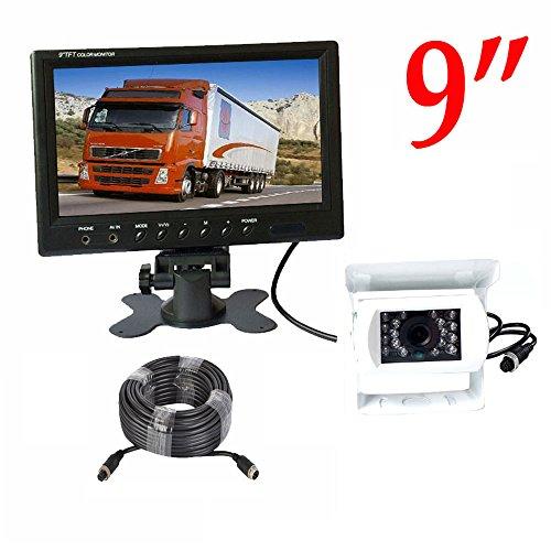 - 4 Pin 18 LED IR Night Vision HD CCD Backup Reverse Camera 12V-24V + 9