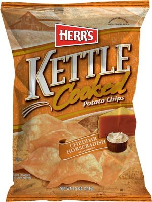 Herrs Kettle Cooked - Herr's Cheddar Horseradish Kettle Cooked Potato Chips 1.875 Ounces (Pack of 24)