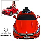 Official Licensed Mercedes Benz Ride On Car With Remote Control For Kids | 12V Power Battery AMG S63 Kid Car To Drive With 2.4G Radio Parental Control Red
