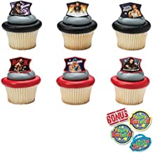WWE Ringleaders Cupcake Toppers and Bonus Birthday Ring - 25 pieces