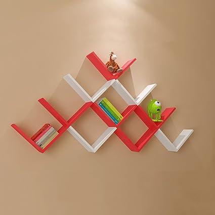 . Amazon com  Wall Shelf Simple Modern Paint Wall Hanging Rack Living