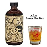 8 oz. Fire Cider Apple Cider Vinegar & Honey Tonic. With Dosage Shot Glass (Original Flavor)