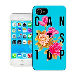 Unique Phone Case Flowers Art Can't Stop Flower Poster Hard Cover for iPhone 4/4s cases-buythecase
