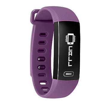 kivors Impermeable Pulsera Inteligente Pulsera Actividad con Pulsometros, Deportes Podómetro Activity Tracker con Monitor de Frecuencia Cardíaca,Contador de ...