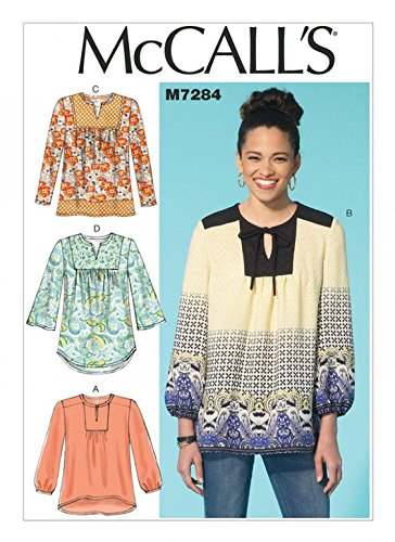 McCall\'s Ladies Easy Sewing Pattern 7284 Very Loose Fitting Blouse ...