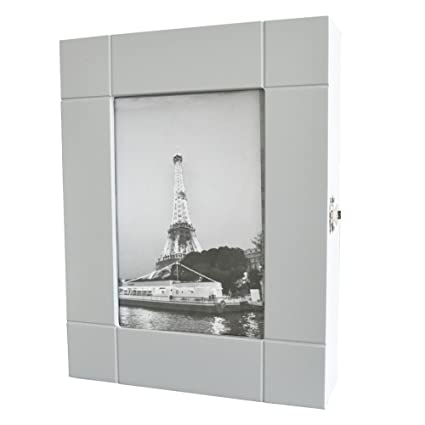 HS-Lighting KC96 – Armario de Pared con Fotos de Llave Caja 11 Ganchos Madera Blanco 29 x 35 x 6 cm (H/B/T)