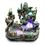 GL&G Creative Resin Crafts rockery Water Bonsai Home office decoration Fish pond Indoor Tabletop Fountains humidifier High-end Business Lucky gift,382239CM