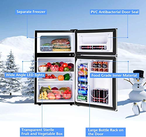 LEONARD USA 115 L Inverter Double Door Mini Refrigerator / Small Fridge with Separate Deep Freezer Compartment… 2021 August INVERTER TECHNOLOGY for Longer Durability. Inbuilt Stabilizer operation. INTERIOR LIGHT Underneath. Virtual Steel Finish resist finger prints & smudges. LUXURIOUS APPEARANCE which is Perfect For Dorm Rooms / Game Rooms / Home Bars / Home Gyms. ANTI-FUNGAL GASKET which prevents the entry and build-up of fungi and bacteria inside the Fridge. This product comes ready to use & Does Not require installation.