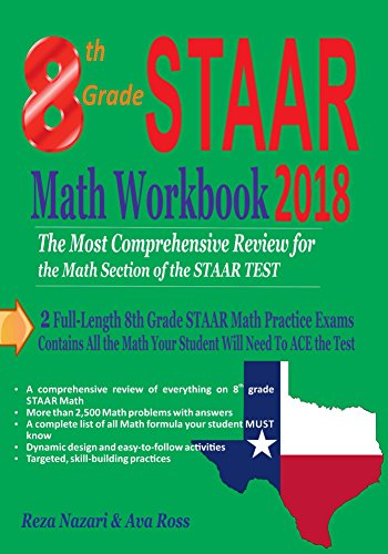 photograph regarding 8th Grade Math Practice Test Printable identify 8th Quality STAAR Math Workbook 2018: The Maximum Intensive Evaluate for the Math Component of the STAAR Check out