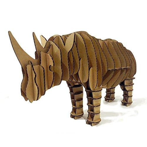 Paper Maker DIY 3D Handmade Puzzle Rhinoceros Figurine Model