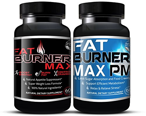 Fat Burner Max AM/PM BUNDLE For Extreme Weight Loss That Works (120...