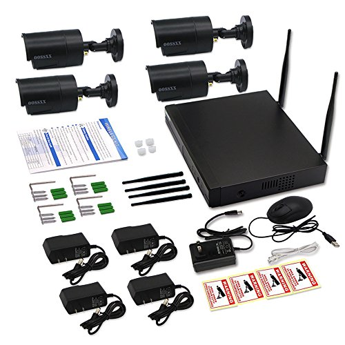OOSSXX 8-Channel HD 1080P Wireless Network/IP Security ...