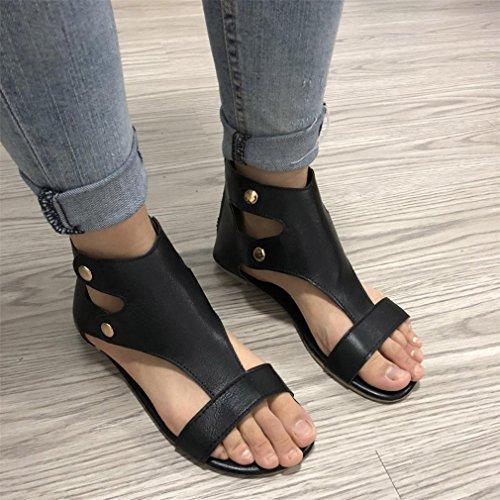 Rivet Bout Femme Pantoufles Sandales ELECTRI Coutures à la Noir Strass Bohême Sandales Talons Chaussures Mode à Talons Femmes Ouvert Chaussures Hauts 4YEqvOwO