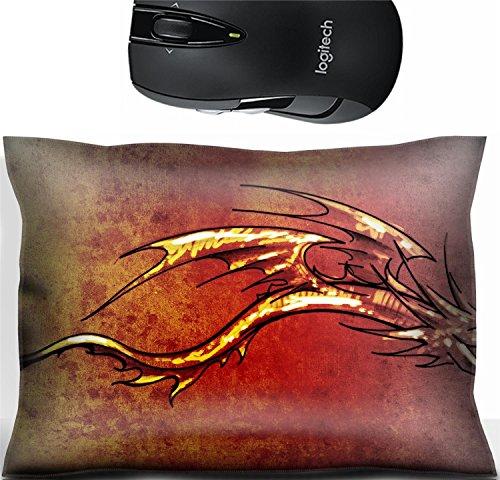 st Office Decor Wrist Supporter Pillow Sketch of tattoo art stylish decorative dragon Photo 13454227 ()