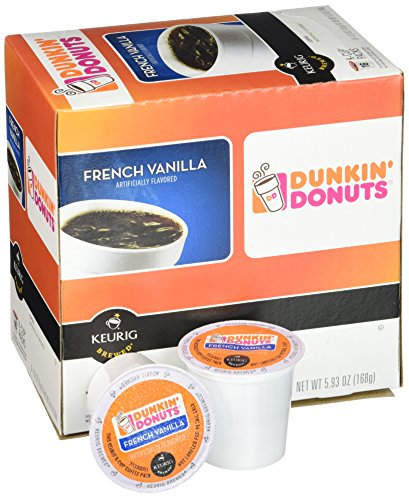 Dunkin Donuts French Vanilla Flavored Coffee K-Cups For Keurig K Cup Brewers - 32 Pack
