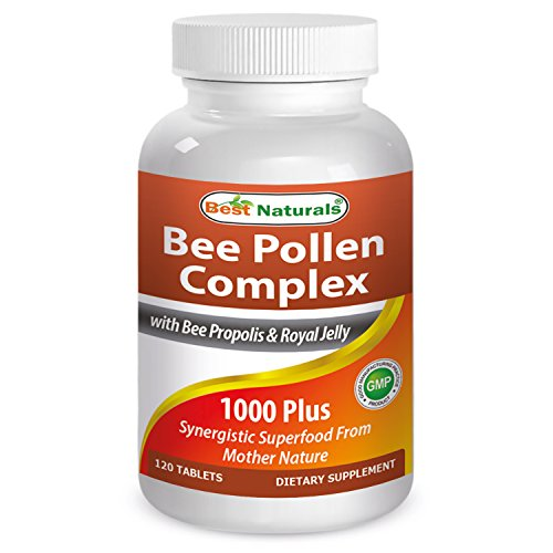 Best Naturals Bee Pollen Complex 1000 mg 120 Tablets