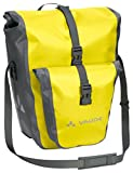 VAUDE Aqua Plus - Rear Pannier Bike Bag - Set of 2 - PVC-Free Tarpaulin Bike Panniers - Waterproof Pannier Bags with Front Pocket and 51 Litre Total Storage Volume