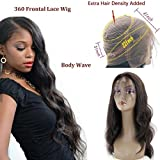 150% Density 360 Lace Frontal Wigs-Body Wave Brazilian Full Frontal Lace Human Hair Wigs for Black Women Pre Plucked Natural Hairline with Baby Hair Natural Color (14'')