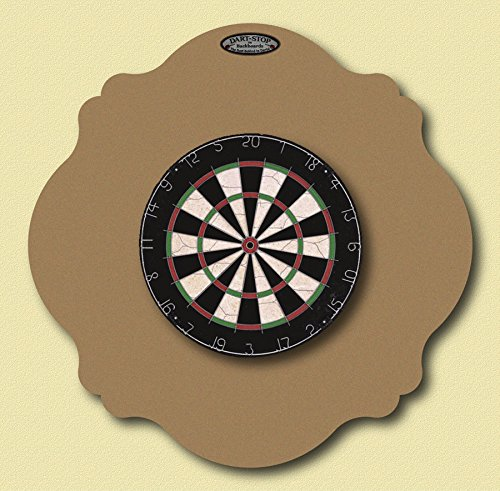 36'' Professional Dartboard Backboard, Scalloped (Tan) by Dart-Stop