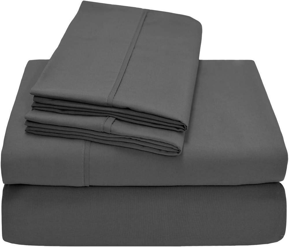 Ivory, Queen SRP Linen 1-Piece Flat Sheet//Top Sheet Solid 100/% Egyptian Cotton