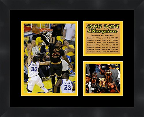 Frames By Mail TP03-11-00-NBA20161 Cleveland Cavaliers 2016 NBA Champions Lebron James 11 X 14 Framed Collage Photos, by Frames by Mail