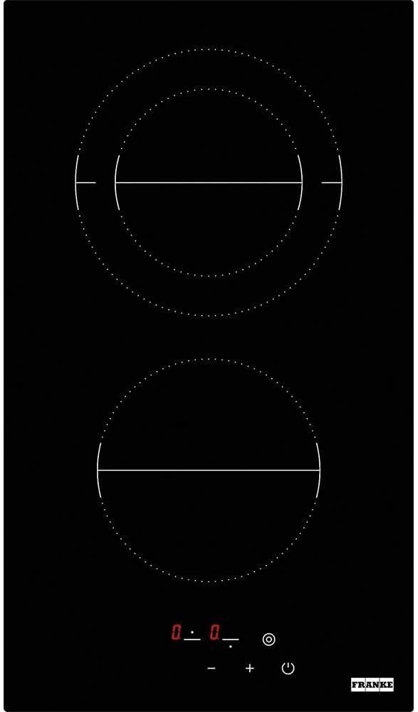 Placa Franke FHR 302 C T BK Integrado Cer/ámico Negro Integrado, Cer/ámico, Vidrio, Negro, 1200 W, 14 cm