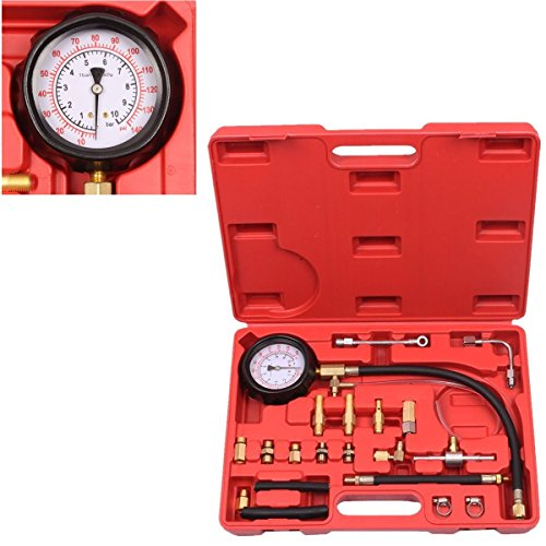 BETOOLL HW0138 0-140PSI Fuel Injector Injection Pump Pressure Tester Gauge Kit Car Tools