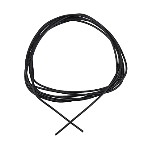 BQLZR negro 1,5 Meter longitud cobre chapado en plata guitarra potenciómetro circuito alambre de