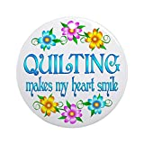 quilter ornament - CafePress - Quilting Smiles Ornament (Round) - Round Holiday Christmas Ornament