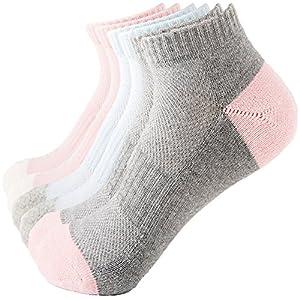 Thsbird Women's Athletic Ankle Socks Comfort Low Cut Short Running Socks Pack of 4