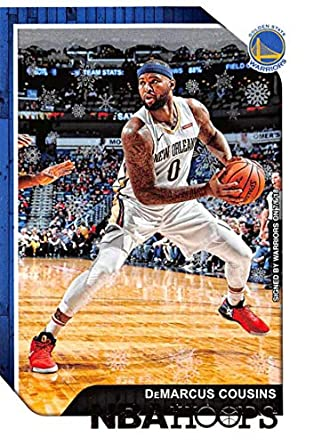 80959fc91 Amazon.com  2018-19 Panini NBA Hoops Winter Holiday Christmas  171 DeMarcus  Cousins Golden State Warriors Official Basketball Card  Collectibles   Fine  Art
