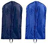 Liberty Bags Single-Zippered Nylon Garment Bags Set_Navy & ROYAL_OS