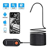 DEPSTECH 5.5mm Ultra-Thin Wireless Endoscope, The Third Version WiFi Borescope with Digital Zoom Lens, HD Snake Inspection Camera with QuickShot for iPhone and Android Smartphone,Samsung, Tablet