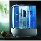 Cabina e Vasca Idromassaggio 165x100 full optional con box doccia bagno turco e Sauna