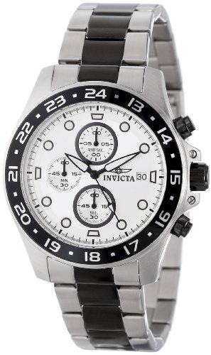 Invicta 15209 Mens Pro Diver Chronograph Silver Dial Two Ton