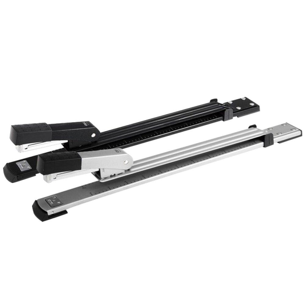 Long Reach Stapler, Desktop Stapler Remover Dual Functions for Office Or School, 40 Sheets Stapler, Compact, Low Force, 40 Sheets (14IN, Long Reach Stapler)
