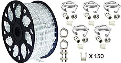 150' Outdoor Rated LED Rope Light Kit - 120V - UL Listed