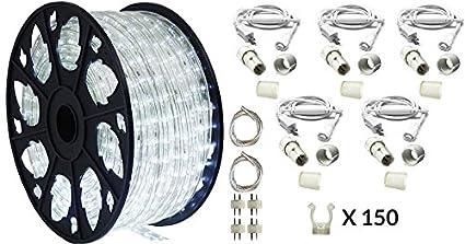 Amazon 150 outdoor rated led rope light kit 120v ul 150 outdoor rated led rope light kit 120v ul listed cool white aloadofball Images