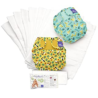 Bambino Mio, miosoft reusable cloth diaper set, rainforest b, size 2 (21lbs+)
