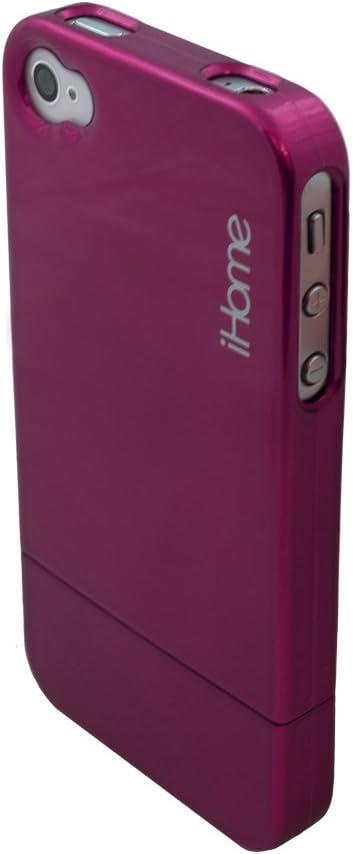 iHome IH-4P100P Metallic Case for iPhone 4, Pink