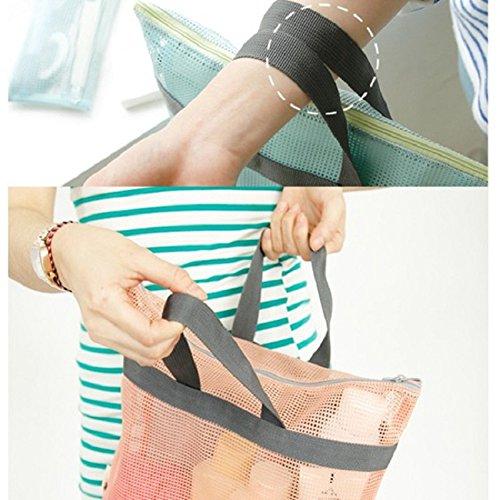 Wdilo Para Rosa De Playa Color Malla Almacenamiento Bolsa Portátil xrqIrU1