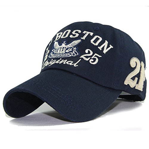 New baseball cap snapback hats for boy girls fashion visor cap letters print outdoor outdoor sun hats (Dark Blue Color)